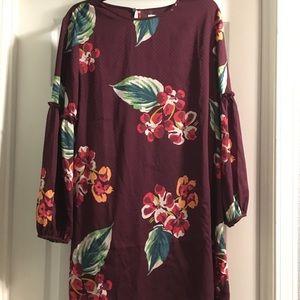 Ann Taylor loft floral dress size medium